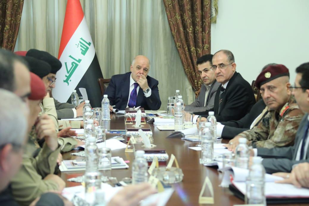 العبادي يترأس اجتماع المجلس الوزاري للأمن الوطني