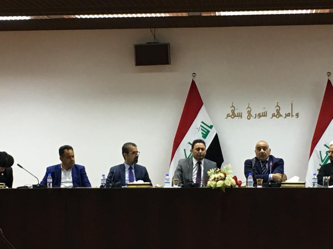 عبدالمهدي يدعو إلى تعزيز التعاون بين البرلمان والحكومة