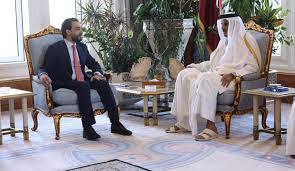 """الحلبوسي:نسعى لتعزيز العلاقات """"التجارية والاستثمارية"""" بين العراق وقطر"""