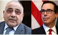 وزير الخزانة الأمريكي يؤكد لعبد المهدي أستمرار دعم بلاده للعراق