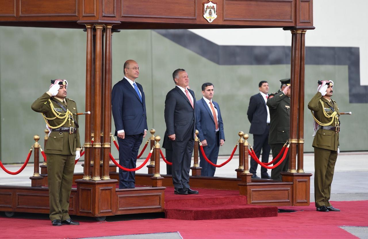 اخبار العراق2018_العاهل الأردني يستقبل الرئيس