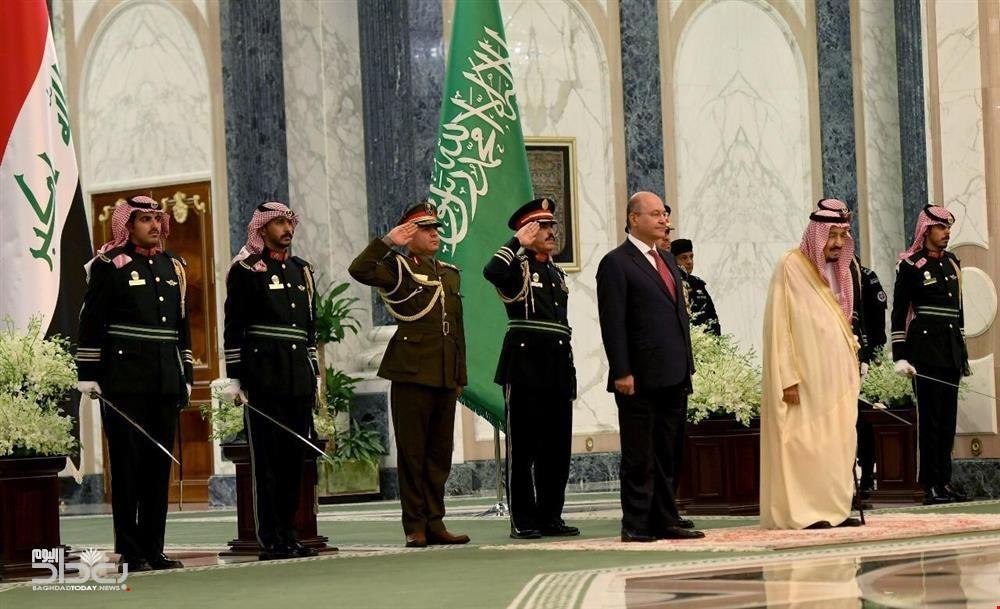 الملك سلمان يستقبل الرئيس العراقي برهم صالح