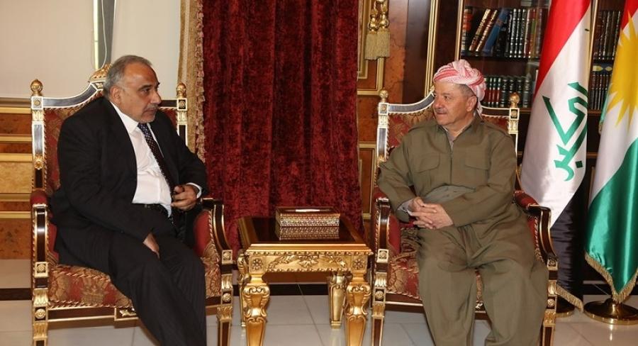 """حزب بارزاني:عبد المهدي """"وافق"""" على كل مطالبنا الـ21"""