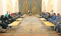 صالح يؤكد على تعزيز الوحدة الوطنية