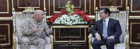 """مسرور يؤكد على تعزيز دور التحالف الدولي في المناطق""""المتفق عليها"""""""