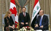 صالح يدعو الشركات الكندية للمساهمة في إعمار العراق