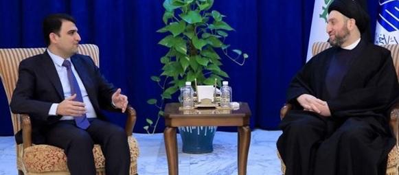الحكيم يدعو حزب بارزاني إلى الانضمام للمشاريع الوطنية