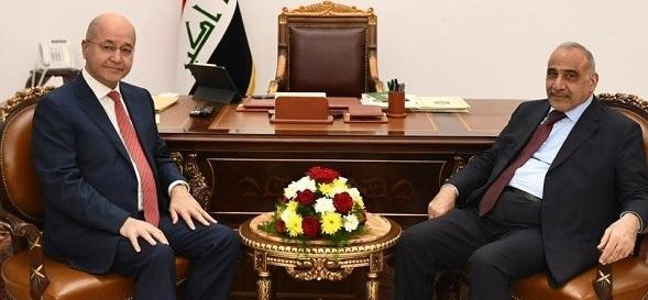 صالح وعبد المهدي يلتقيان على باقة ورد لمناقشة أوضاع العراق المأساوية