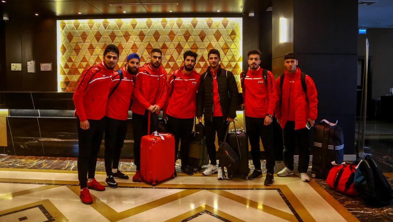 المنتخب الاولمبي السوري يصل كربلاء