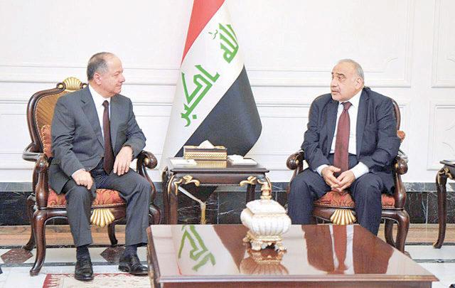 صحيفة:عبد المهدي سيسلم ثلث العراق إلى مسعود البارزاني!!