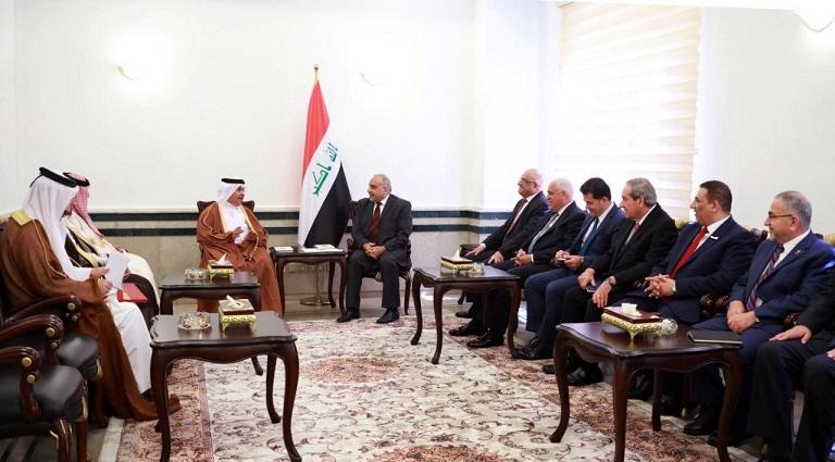 عبد المهدي يلتقي وزير التجارة القطري