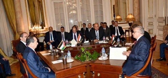 الخارجية المصرية:اجتماعا سداسيا لوزراء خارجية ورؤساء مخابرات مصر والعراق والأردن