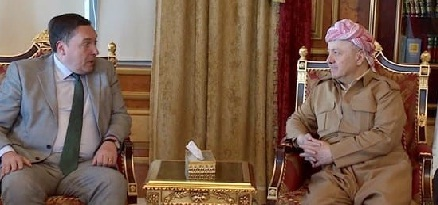 بارزاني وويكلس يؤكدان على ضرورة مواصلة الحرب ضد داعش