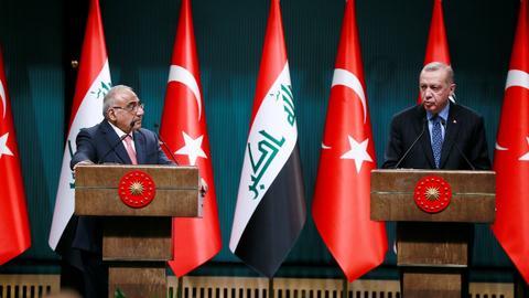 عبد المهدي:تركيا والعراق أمة واحدة ونطمح للمزيد من التبادل التجاري