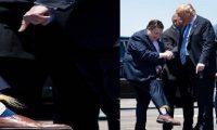 """بـ""""جوارب ترامب"""".. حاكم لويزيانا يستقبل ترامب"""