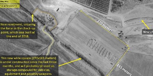 صحيفة:معبر إيراني على الحدود العراقية السورية تم بنائه من قبل مليشيات الحشد
