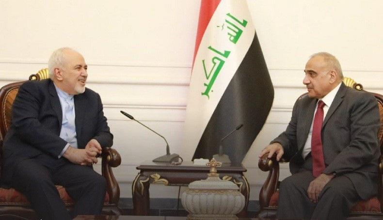 عبد المهدي يطمأن ظريف.. الحصار الأمريكي لاقيمة له بوجود الرئة العراقية