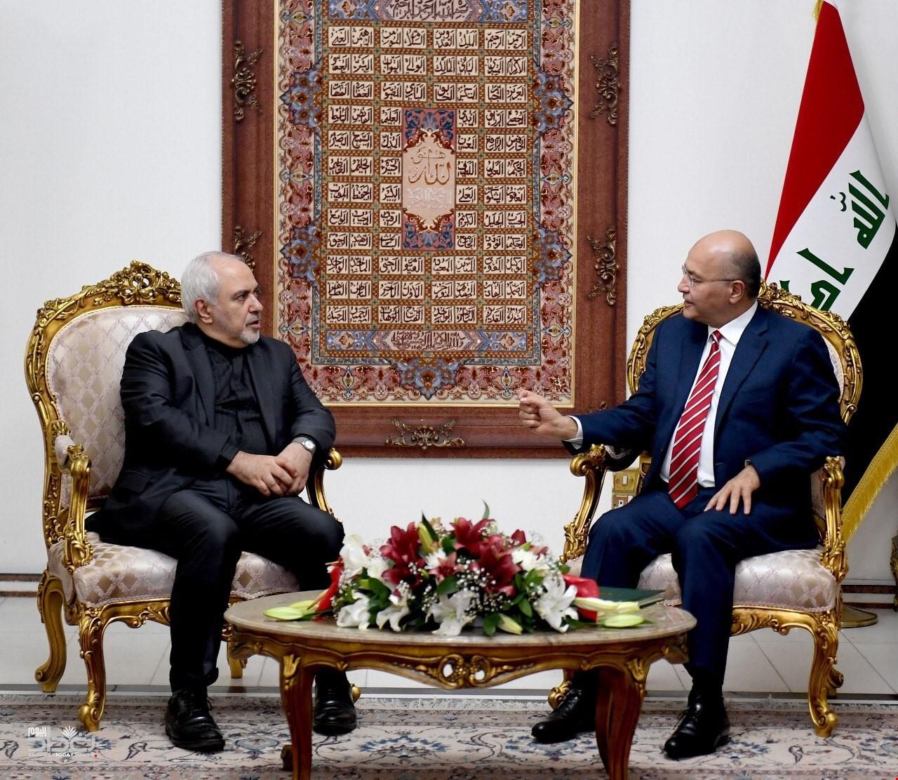 "صالح يؤكد حرص العراق على تعزيز ""الوشائج""مع إيران"