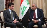 """حزب بارزاني:اتفاق بين عبد المهدي ونيجيرفان لـ""""تصفير"""" المشاكل بين بغداد وأربيل"""