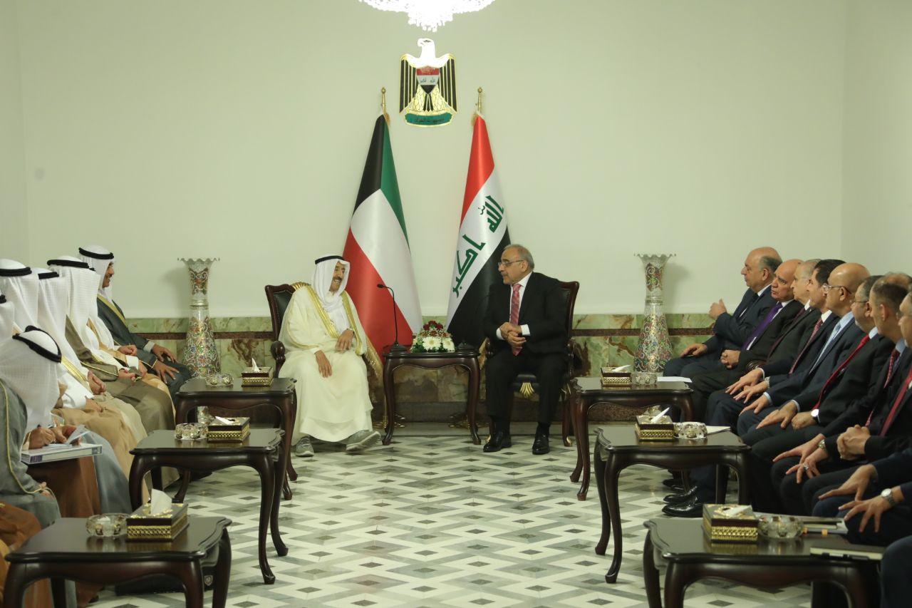 عبد المهدي:متفائلون بمستقبل العلاقات العراقية الكويتية
