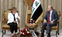 صالح يدعو تركيا إلى المشاركة في إعمار العراق