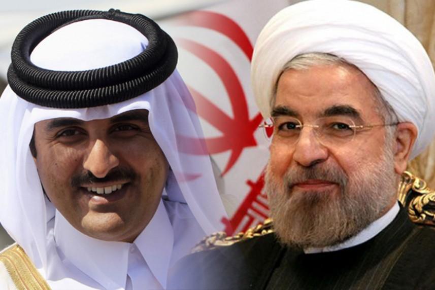 """روحاني وتميم يؤكدان على """"الموقف الواحد"""""""