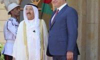 صالح والصباح يبحثان أوضاع المنطقة وإعمار العراق