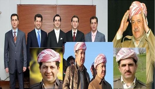 """مصادر تكشف عن مناصب """"العائلة الملكية البارزانية """" في كردستان"""