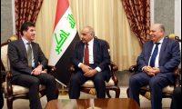عبد المهدي ونيجيرفان يبحثان الملفات العالقة بين بغداد وأربيل