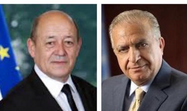 وزير الخارجية العراقي ونظيره الفرنسي يؤكدان على تهدئة الأوضاع في المنطقة