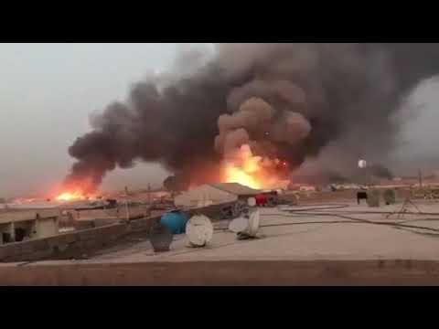انفجار في مخازن عتاد مليشيا كتائب سيد الشهداء