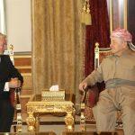 بارزاني يؤكد على الحوار في حل الخلافات بين بغداد وأربيل