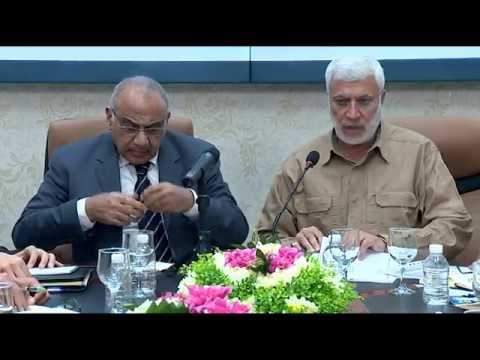 """عبد المهدي يجتمع بالحشد بعد عدم أحترامه من قبل """"المهندس""""من خلال تجاوزه بتهديد الولايات المتحدة"""