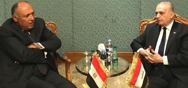 الحكيم وشكري يؤكدان على تعزيز العلاقات بين العراق ومصر
