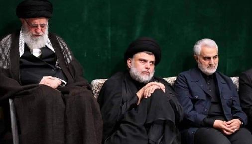 بالصور..الصدر بين شعاره إيران بره بره وبين حضوره في وكر الذئاب