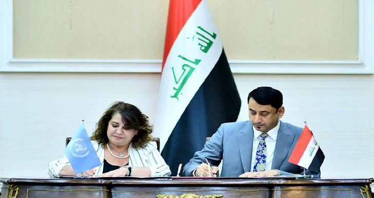 العراق والأمم المتحدة يوقعان على اتفاق بـ33 مليون دولار لإعادة الاستقرار للمناطق المحررة