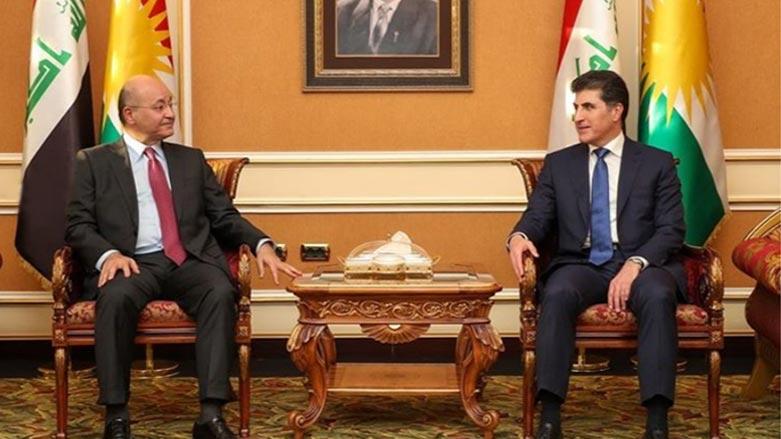 رئاسة الإقليم:لقاء صالح نيجيرفان أكد على توطيد العلاقة بين بغداد وأربيل