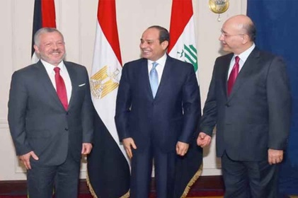 القمة العراقية المصرية الأردنية :مضاعفة الجهود الدافعة باتجاه السلام والحوار
