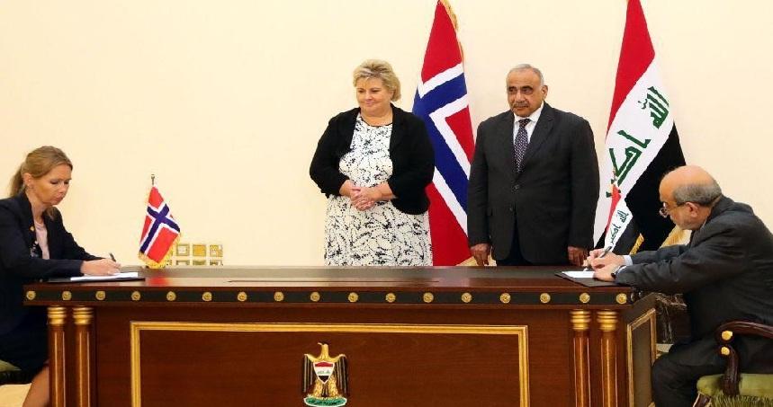 التوقيع على اتفاقية النفط مقابل التنمية بين العراق والنرويج