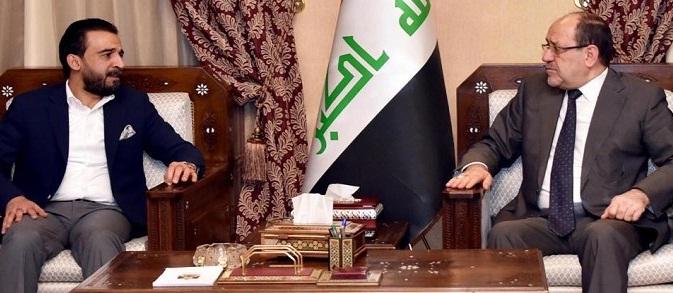 ضد الشعب..المالكي والحلبوسي يؤكدان على رفض تغيير النظام السياسي وإسقاط الحكومة