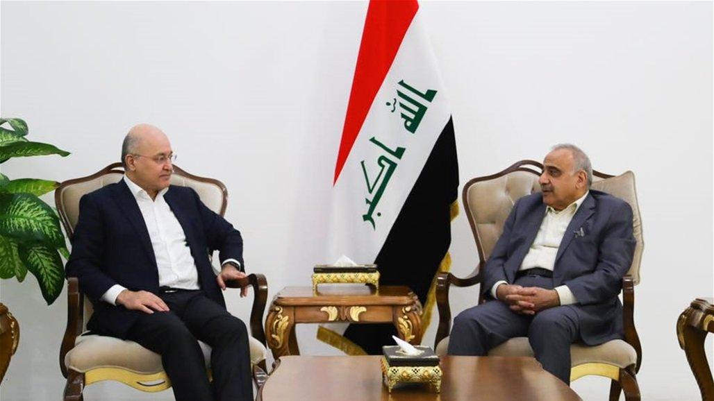 صالح وعبد المهدي يؤكدان على أحترام الرغبات الإيرانية في بقاء حكومتها بالعراق