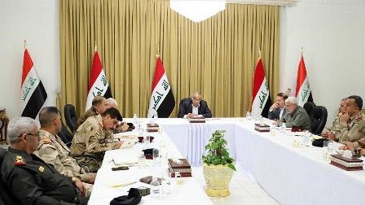 """عبد المهدي يجتمع بـ""""القيادات الأمنية"""""""