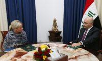 صالح وبلاسخارت يبحثان اختيار المرشح المناسب لرئاسة مجلس الوزراء