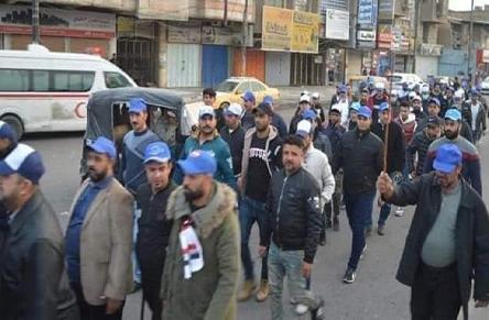 باسيج مقتدى لن يوقف ثورة الشعب ضد الفساد والتبعية