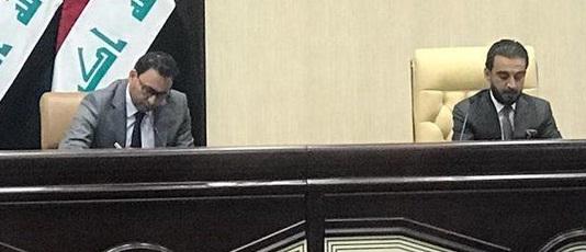 مشادة كلامية بين الحلبوسي والكعبي بسبب تأجيل جلسة التصويت على حكومة علاوي