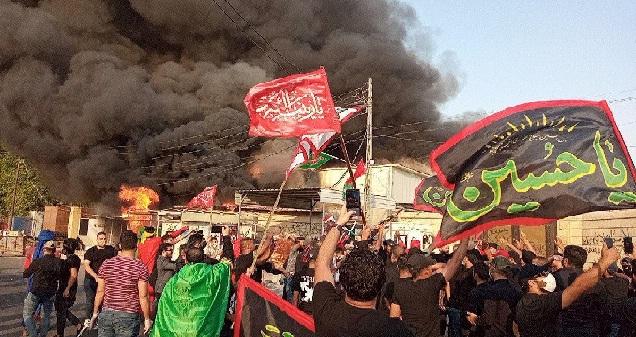 """""""ربع الله"""" يحرقون قناة دجلة بتواطؤ من منتسبي الداخلية  والأخيرة """"تتوعد"""" كذباً"""