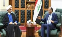 """وزير الثقافة """"الميليشياوي"""" يبحث مع نظيره الإيراني صيانة """"إيوان كسرى"""" والتعاون الثقافي"""