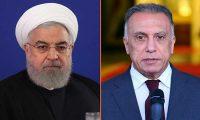 روحاني يطالب الكاظمي بإطلاق الأرصدة الإيرانية المجمدة في العراق