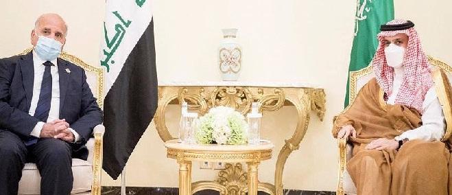 العراق والسعودية يبحثان تعزيز التعاون المشترك بين البلدين