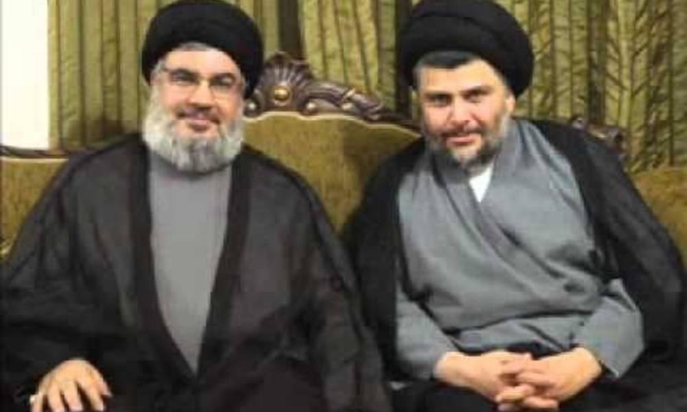 """سرقة النفط العراقي بالإتفاق بين مقتدى وحسن نصرالله تحت ممر""""الكاظمي""""!!"""